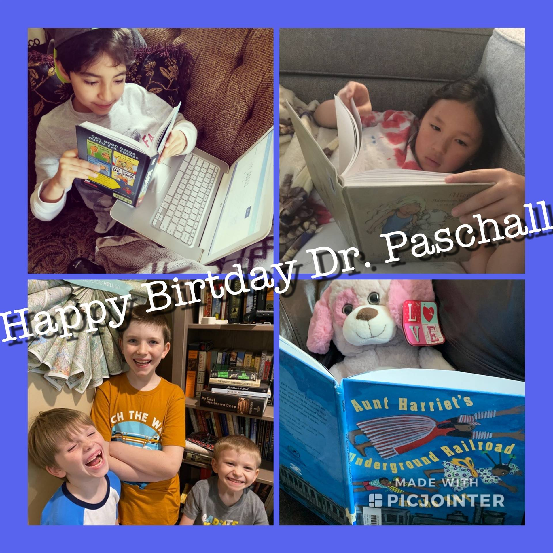 Happy Birthday (virtually) from your reading students